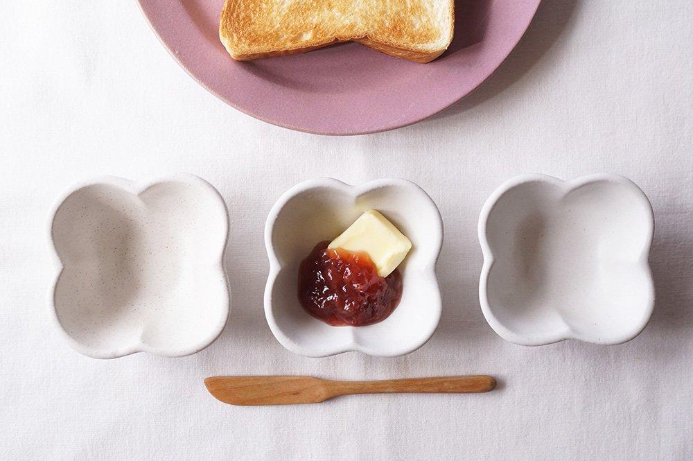 ホワイト 花豆鉢