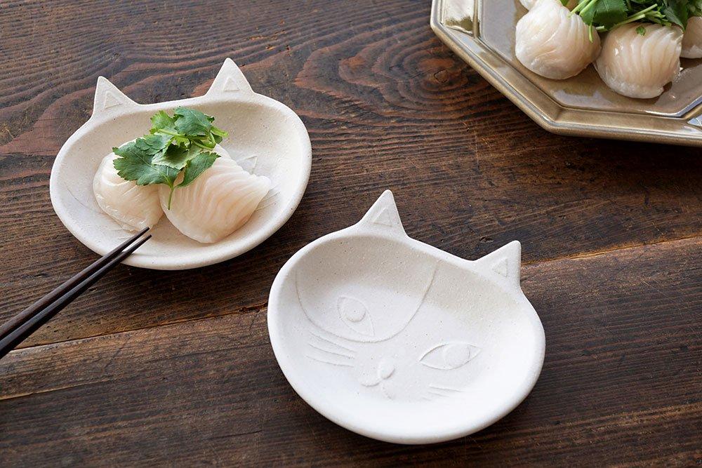 猫豆皿 シロ