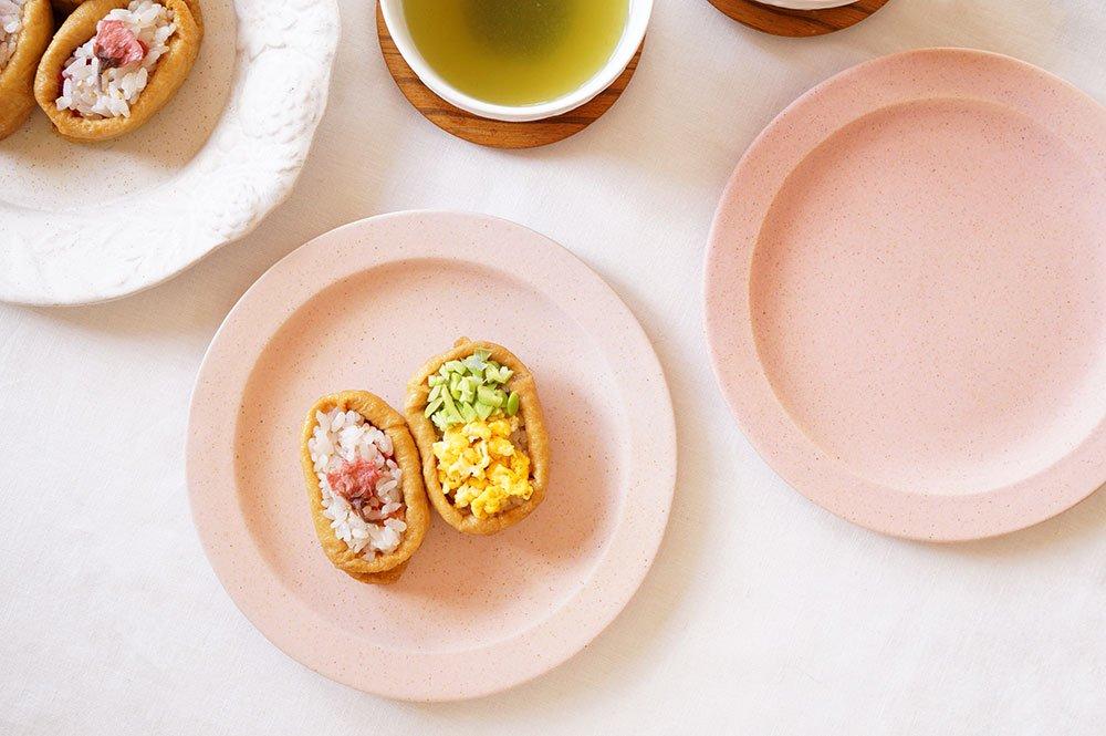 ピンク ラウンドリムプレート 6寸ケーキ皿