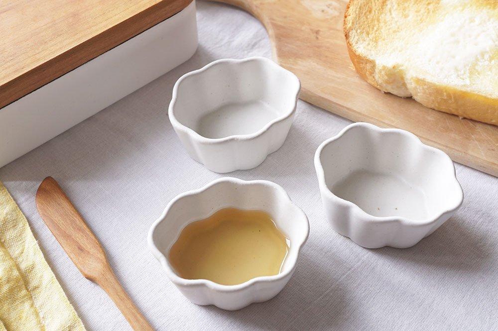 白い雲豆鉢