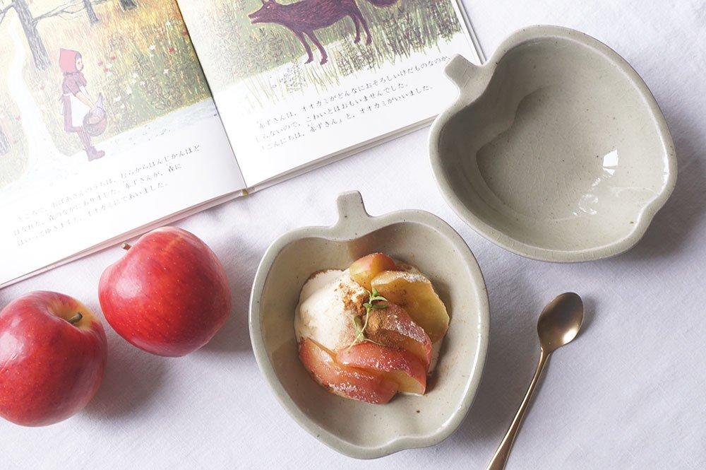 ペールグリーン りんご鉢