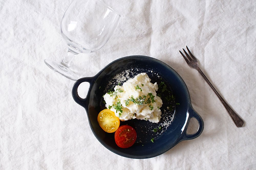 ヨルノアオ 両手鍋皿