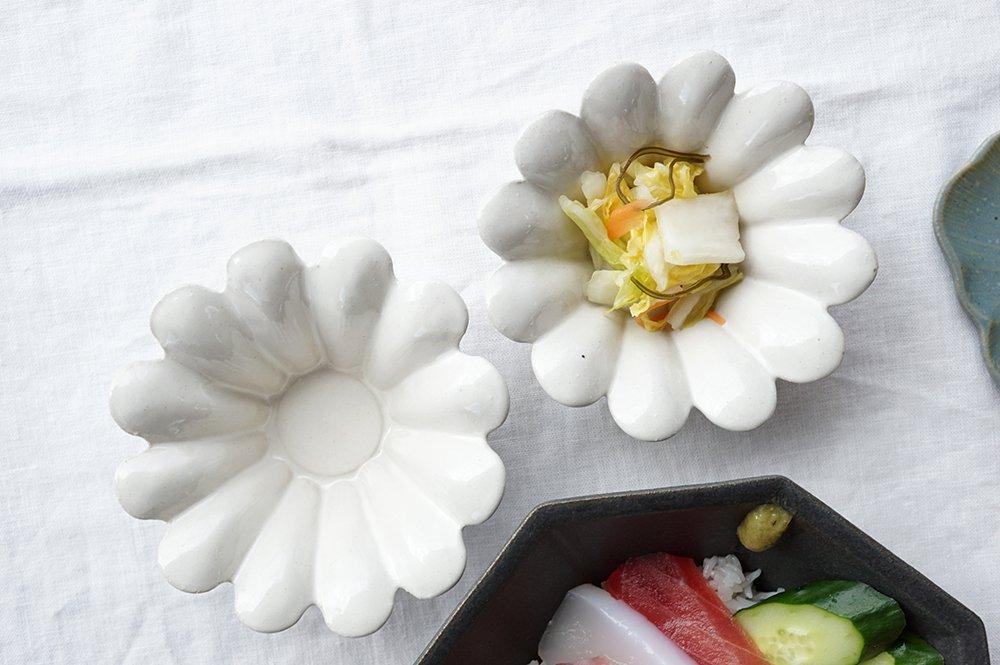 白いマーガレット小鉢