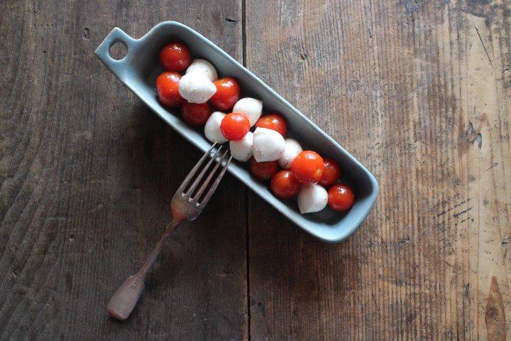 ブルーグレー カッティングボード型のお皿 細長