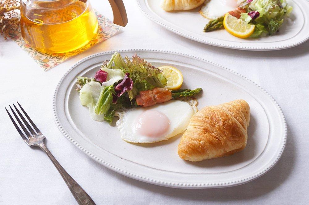 ホワイトちょっと素敵なパウンドケーキ皿