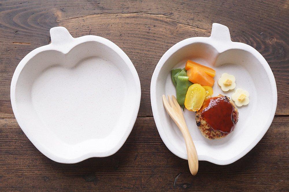 ホワイト りんご皿