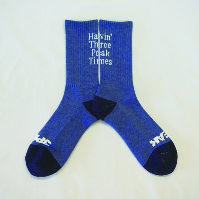 <img class='new_mark_img1' src='https://img.shop-pro.jp/img/new/icons14.gif' style='border:none;display:inline;margin:0px;padding:0px;width:auto;' />*3PEAK* Havin' Three Peak Times Socks (Blue Heather)