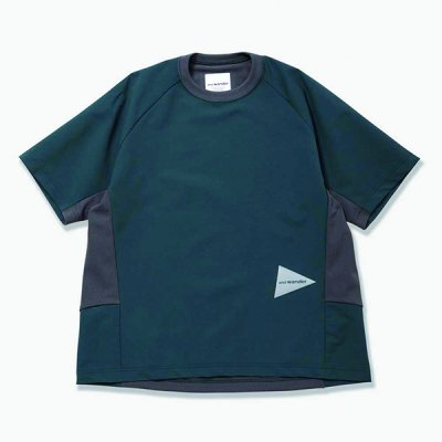 *and wander* hybrid base layer short sleeve T (green)