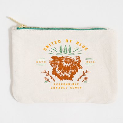 *UNITED BY BLUE* Grizzly Canvas Pouch