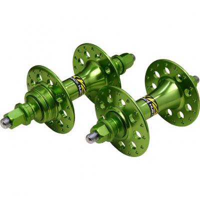 *cycroc* large flange track hub set (green)