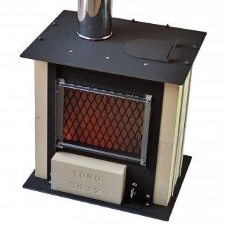 庭暖炉(窓ガラス付き)