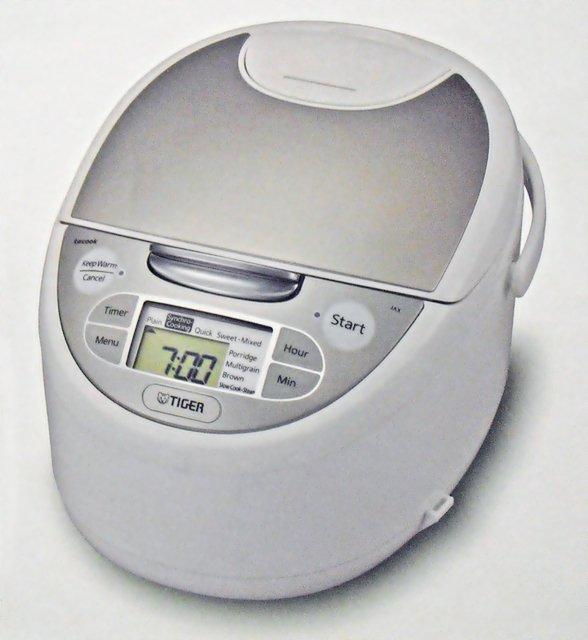 【海外向け炊飯器】【230-240V仕様】 タイガー魔法瓶 マイコン炊飯ジャー 1升炊き ホワイト JAX-S18A WZ