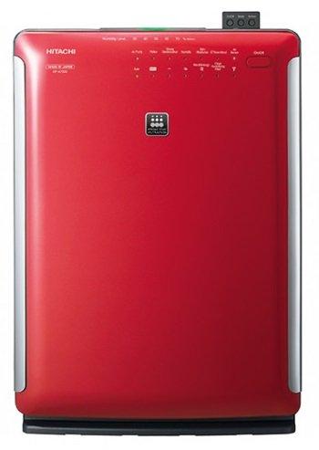 【海外向け家電】【220-240V仕様】 HITACHI 海外向け 加湿空気清浄機 適床面積50平方メートル PM2.5対応 レッド EP-A7000RE