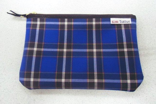 【メール便対象商品】 神戸タータン ポーチ Mサイズ