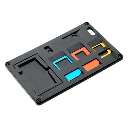ミヨシ SIMカードホルダー SIMカード変換アダプタ付 ブラック SCM-SI01/BK