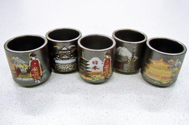 お土産品 酒器セット ミニぐい呑みセット 鉄結晶 日本風景