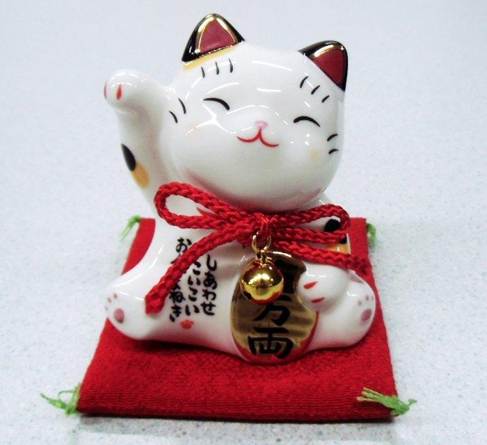 【お土産品】 置物 彩絵お金招き猫 大サイズ