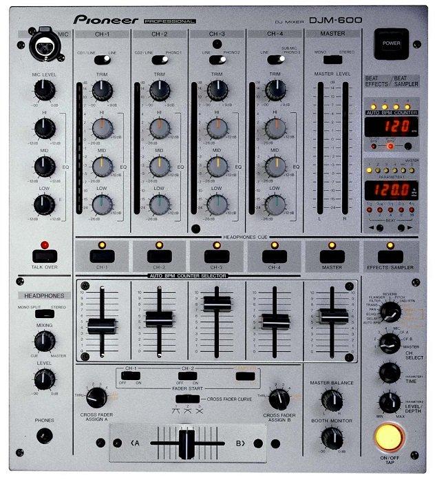 【新品】【在庫処分セール】【海外仕様】 パイオニア プロフェッショナルDJミキサー DJM-600/S RL