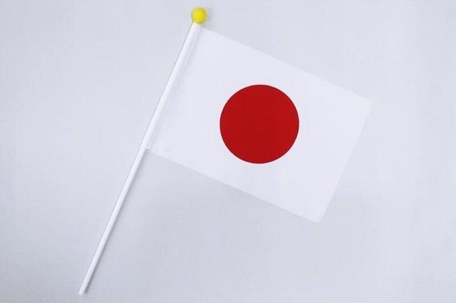 【お土産品】 日本国国旗 日の丸 応援国旗(ポール付き)