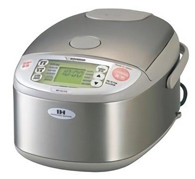 【海外向けIH炊飯器】【220-230V仕様】 象印マホービン IH炊飯ジャー 《極め炊き》 5.5合炊き ステンレスカラー NP-HLH10-XA