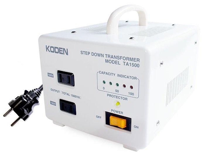 【変圧器】【海外用】 東京興電 海外用変圧器 ステップダウントランス 定格容量1500W 変換電圧220V/240V→100V TA-1500