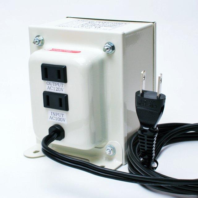 【変圧器】【日本国内用】 日章工業 アップトランス 定格容量1500W 変換電圧100V→110V/120V/127V NDF-1500UPU
