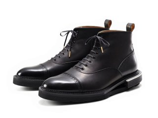 「受注生産商品」蓄光ヒール ストレートチップブーツ(ブラック)