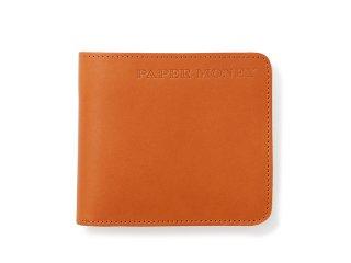 シンプル二つ折財布 ブラウン