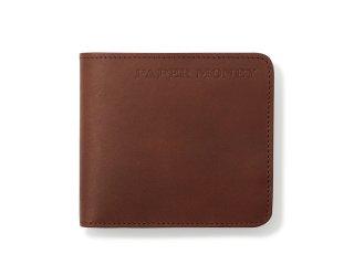 シンプル二つ折財布 ダークブラウン