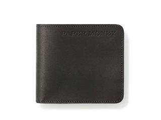 シンプル二つ折財布 ブラック