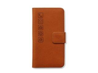 iphoneケース(6,6S,7,8用) ブラウン