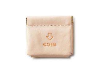 外コインケースの三つ折財布 ナチュラル