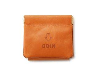 外コインケースの三つ折財布 ブラウン