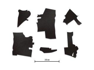 ジョリの革カット ブラック