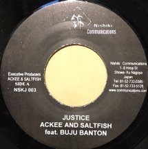 ACKEE AND SALTFISH feat. BUJU BANTON / JUSTICE (USED)