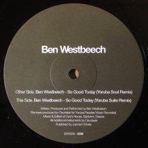 BEN WESTBEECH / SO GOOD TODAY (YORUBA REMIX) (USED)