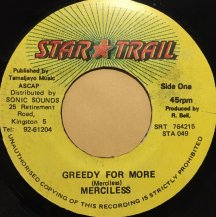 MERCILESS / GREEDY FOR MORE (USED)
