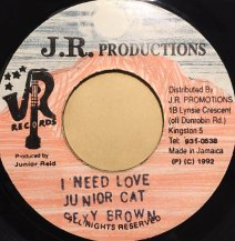 JUNIOR CAT SEXY BROWN / I NEED LOVE (USED)