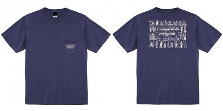 Pressure Sounds 100th Pocket T-Shirt NAVY(SIZE M)