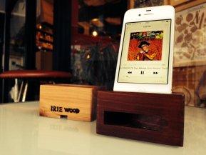 IRIE WOOD(バックロード方式のiPhone用木製スピーカー)