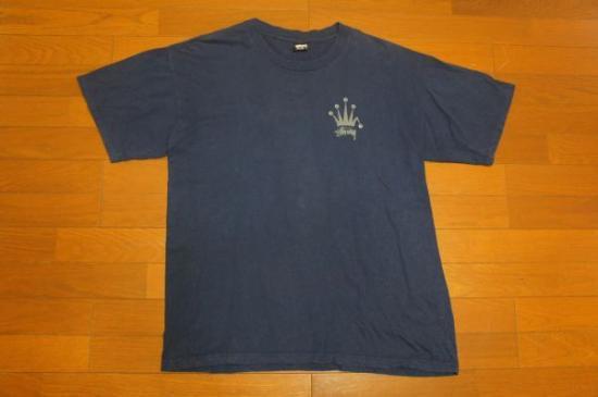USA製 OLD STUSSY クラウン 王冠 両面Tシャツ XL/黒タグオールド