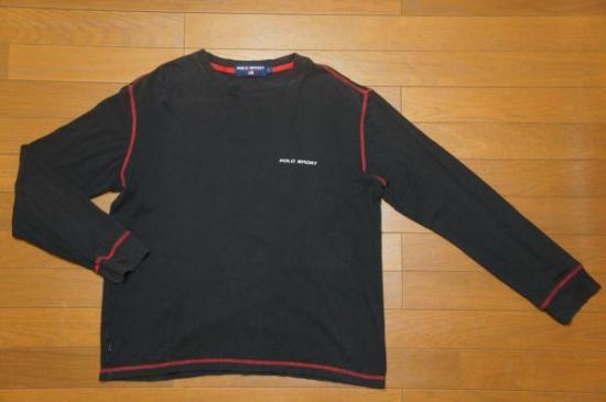 ポロスポーツ ラルフローレン 長袖Tシャツ 黒赤 L/POLOSPORT9293