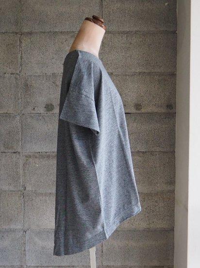 FREEMAN--B/Organic×超長綿Tシャツ【半袖】インディゴ藍グレー