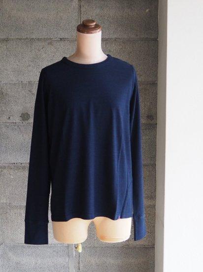 FREEMAN--B/Organic×超長綿Tシャツ【長袖】インディゴ藍