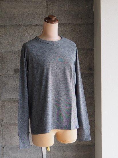FREEMAN--B/Organic×超長綿Tシャツ【長袖】インディゴ藍グレー