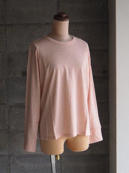 FREEMAN--B/Organic×超長綿Tシャツ【長袖】ペールピンク