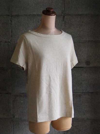 nuuno./Tシャツ【半袖】綿麻生成り