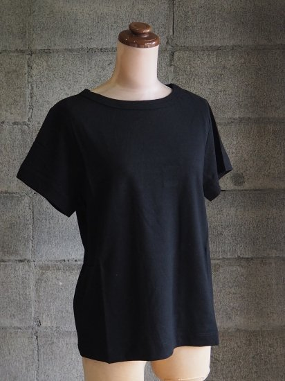 nuuno./Tシャツ【半袖】綿麻黒