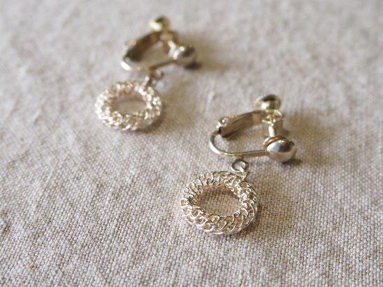 indigo-silver WORKS/シルバーワイヤー細工のイヤリング
