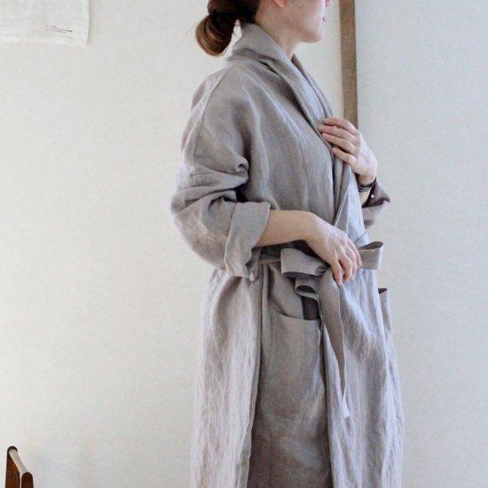 【10/2まで期間限定販売】AN Linen/はおりコート リネングレー